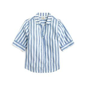 J.Crew short-sleeve button-up top in wide stripe